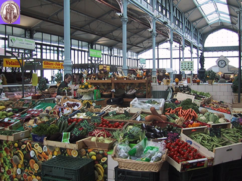 The beautiful town of Saintes has an outdoor market every day of the ...  Market